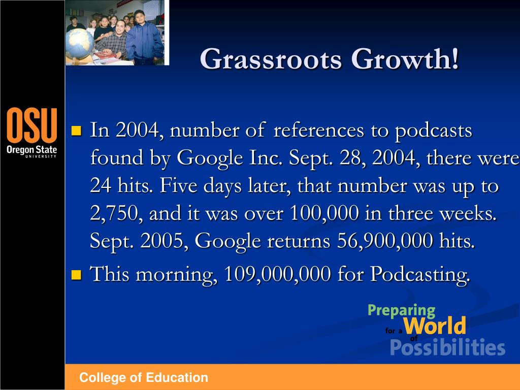 Grassroots Growth!