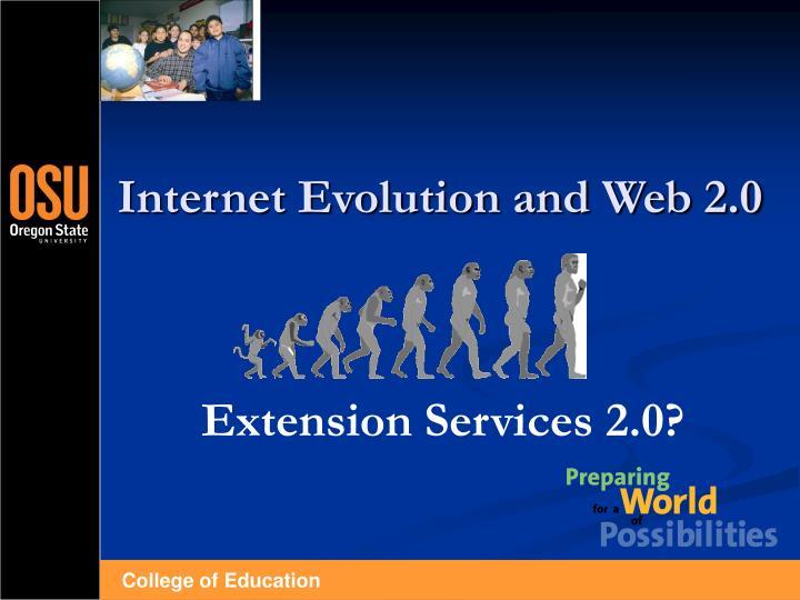 Internet evolution and web 2 0