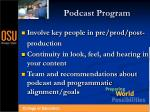 podcast program