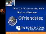 web 2 0 community web