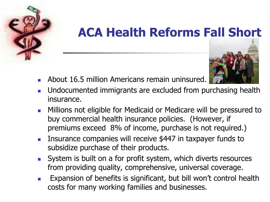 ACA Health Reforms Fall Short