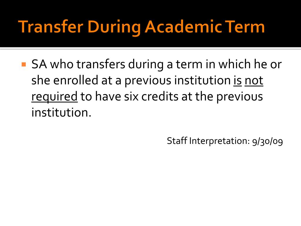 Transfer During Academic Term