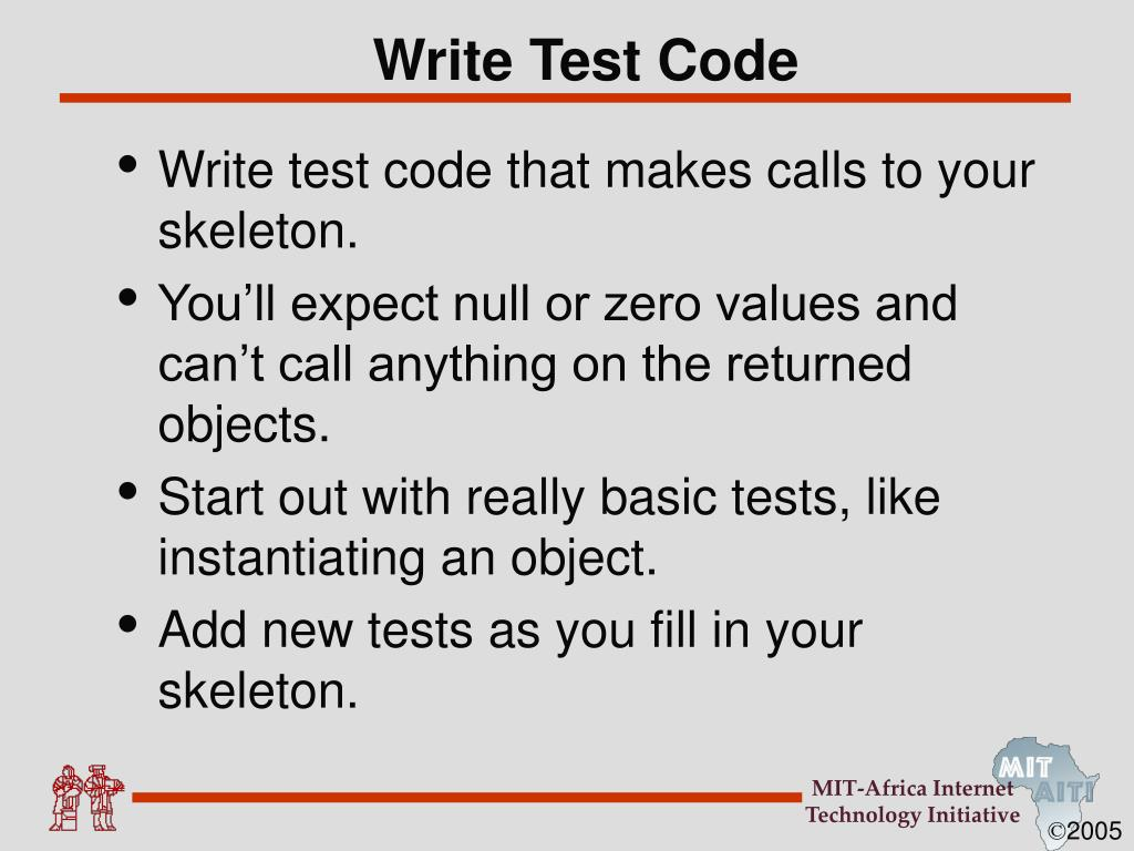 Write Test Code