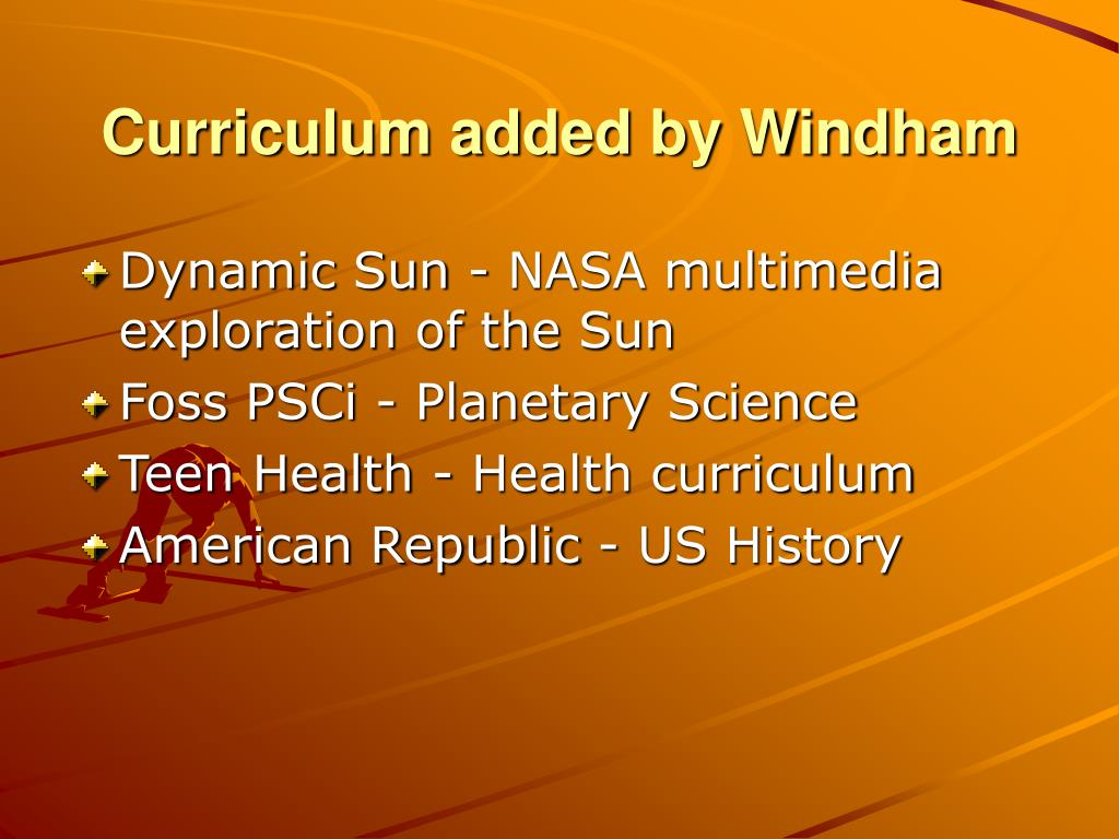 Curriculum added by Windham