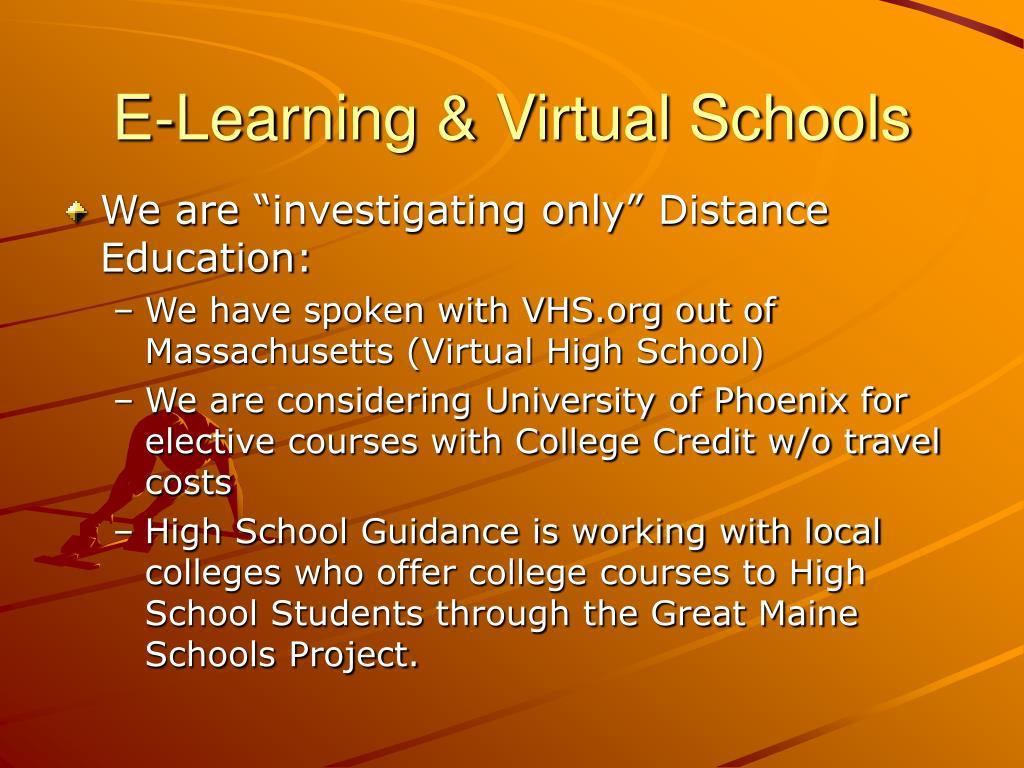E-Learning & Virtual Schools