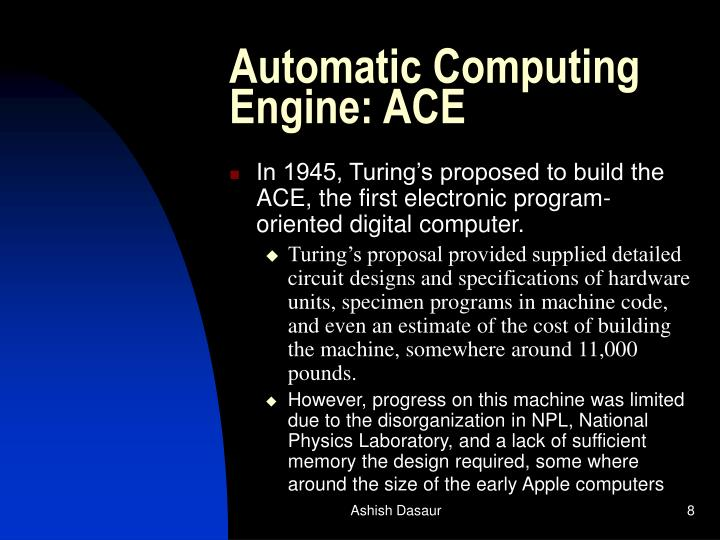 Automatic Computing Engine: ACE