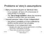 problems w story s assumptions
