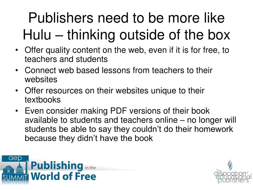 Offer quality content on the web, even if it is for free, to teachers and students