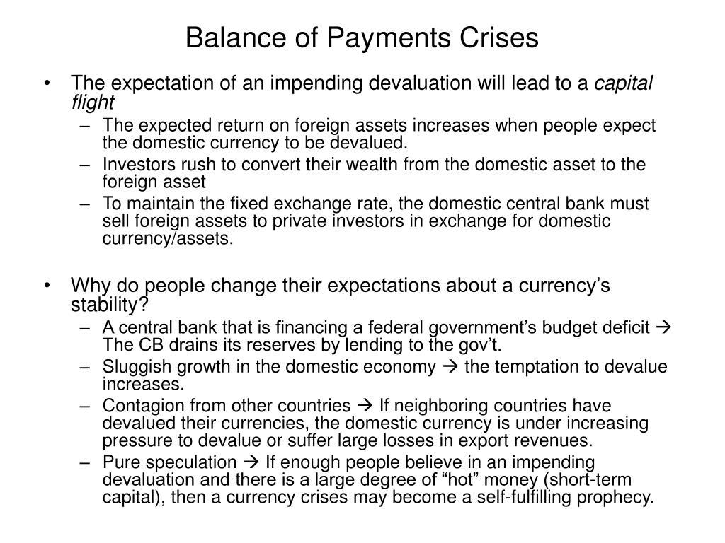 Balance of Payments Crises