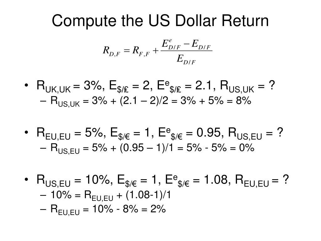 Compute the US Dollar Return