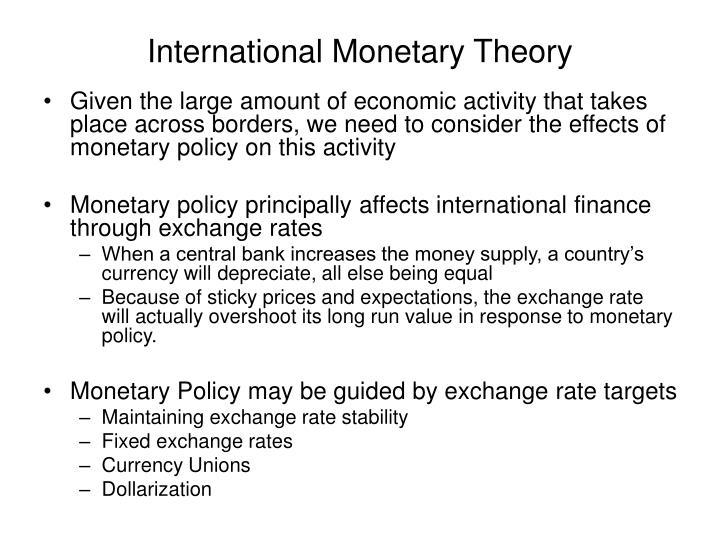 International monetary theory