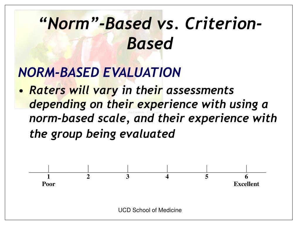 """""""Norm""""-Based vs. Criterion-Based"""