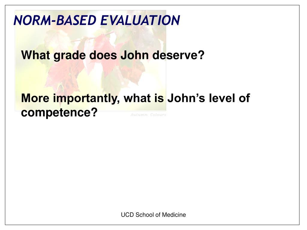 What grade does John deserve?