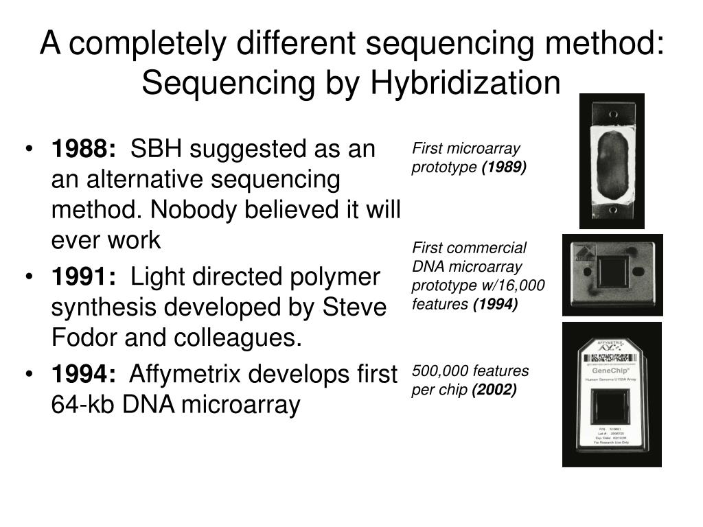A completely different sequencing method: