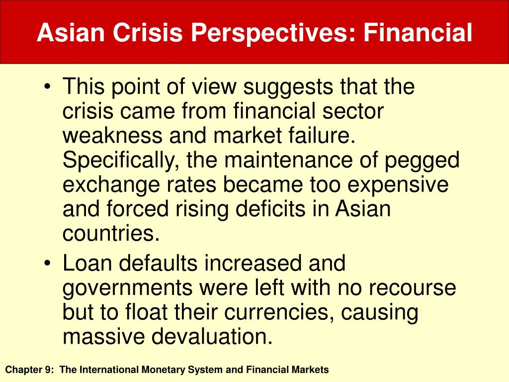Asian Crisis Perspectives: Financial