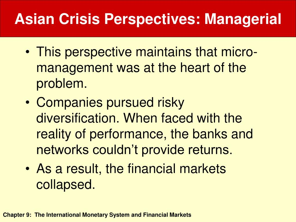 Asian Crisis Perspectives: Managerial