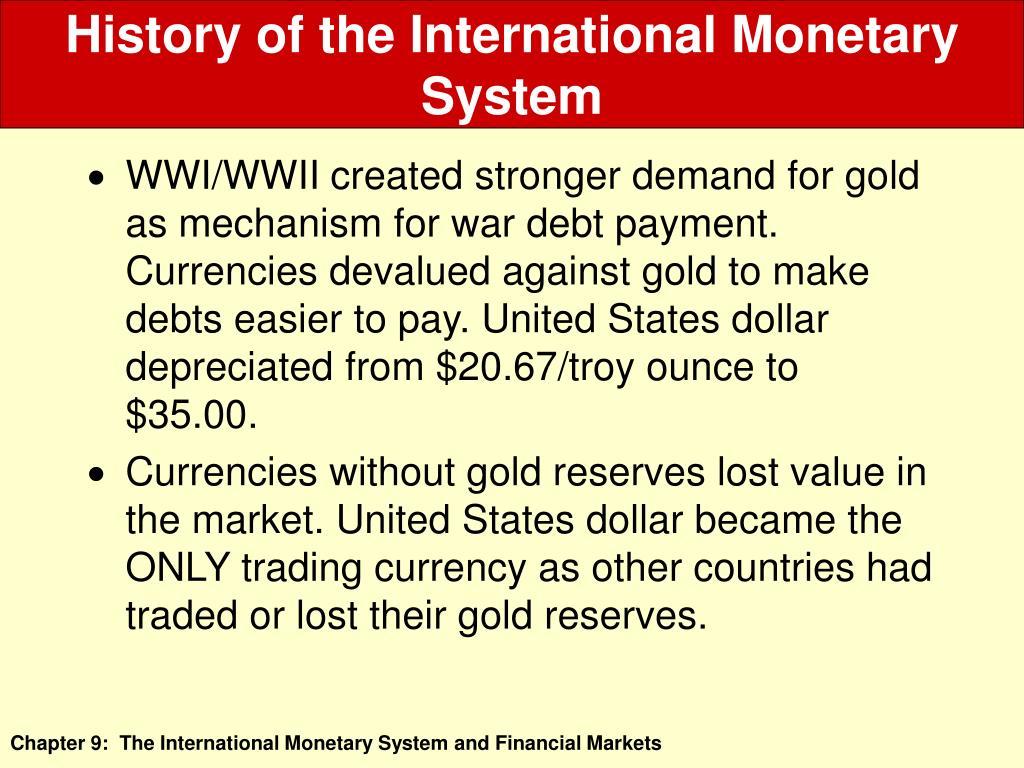 History of the International Monetary System