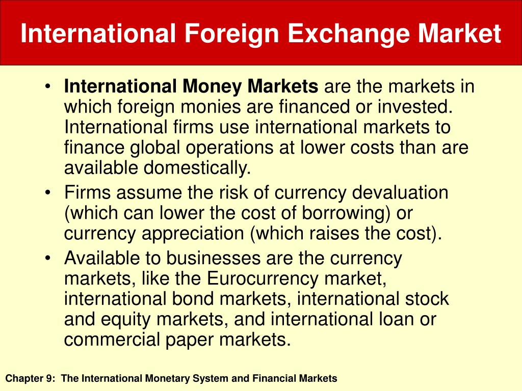 foreign exchange markets paper
