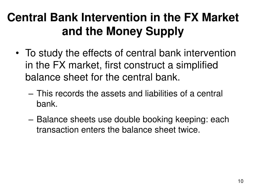 Central Bank Intervention in the FX Market