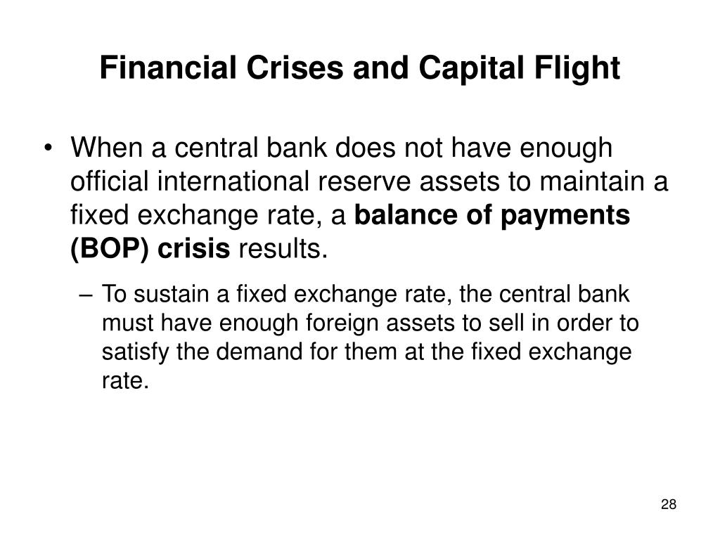 Financial Crises and Capital Flight