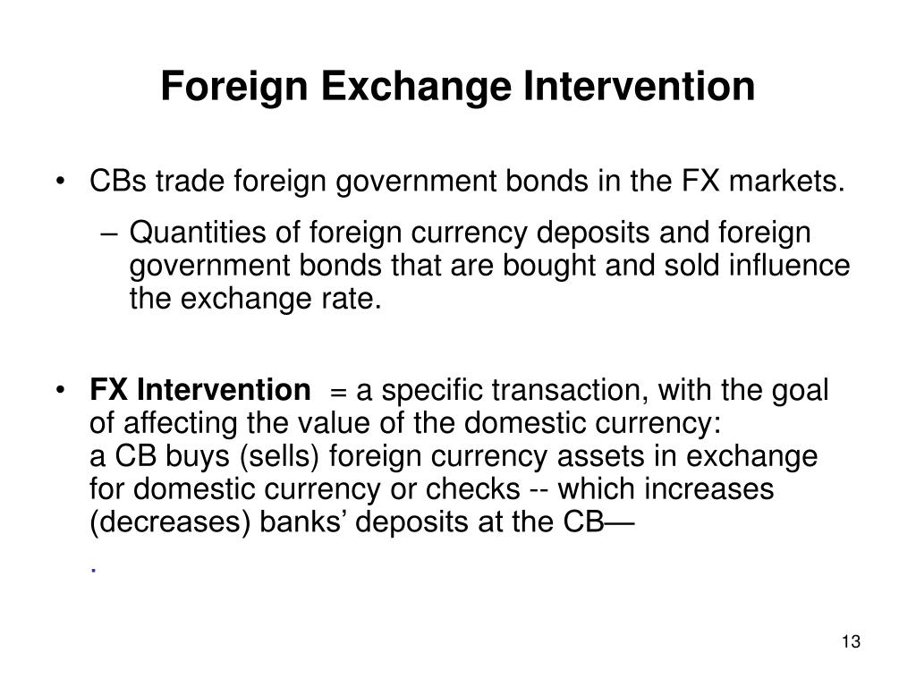 Foreign Exchange Intervention