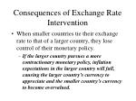 consequences of exchange rate intervention38
