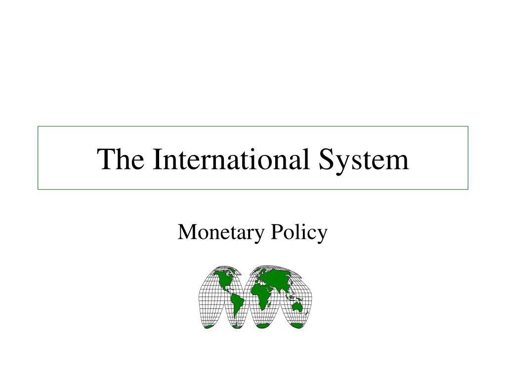 the international system l.