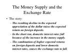 the money supply and the exchange rate23
