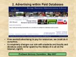 2 advertising within paid databases9