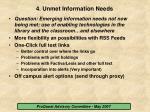 4 unmet information needs15