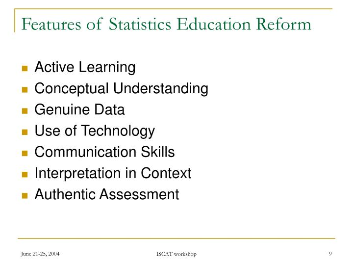 Features of Statistics Education Reform