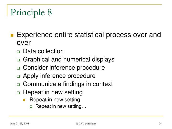 Principle 8