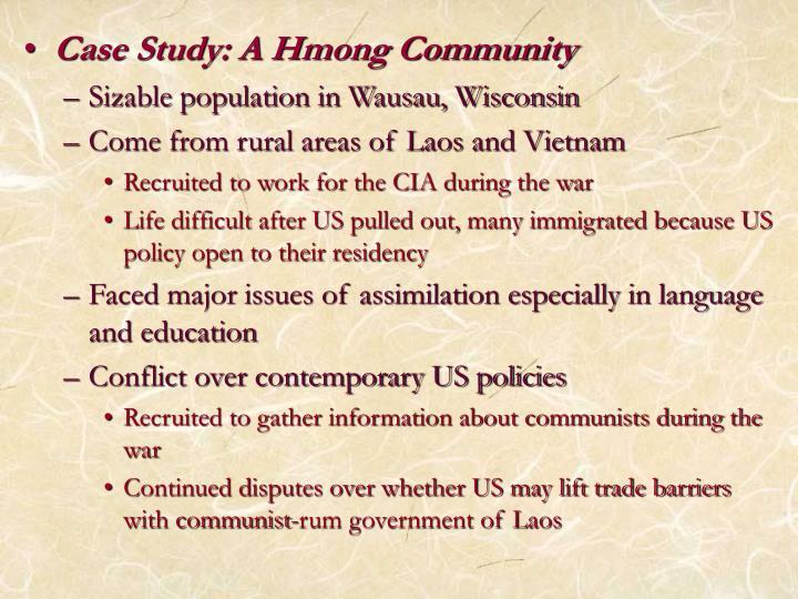 Case Study: A Hmong Community