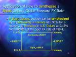 application of how to synthesize a short colon dollar forward fx rate