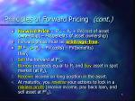 principles of forward pricing cont