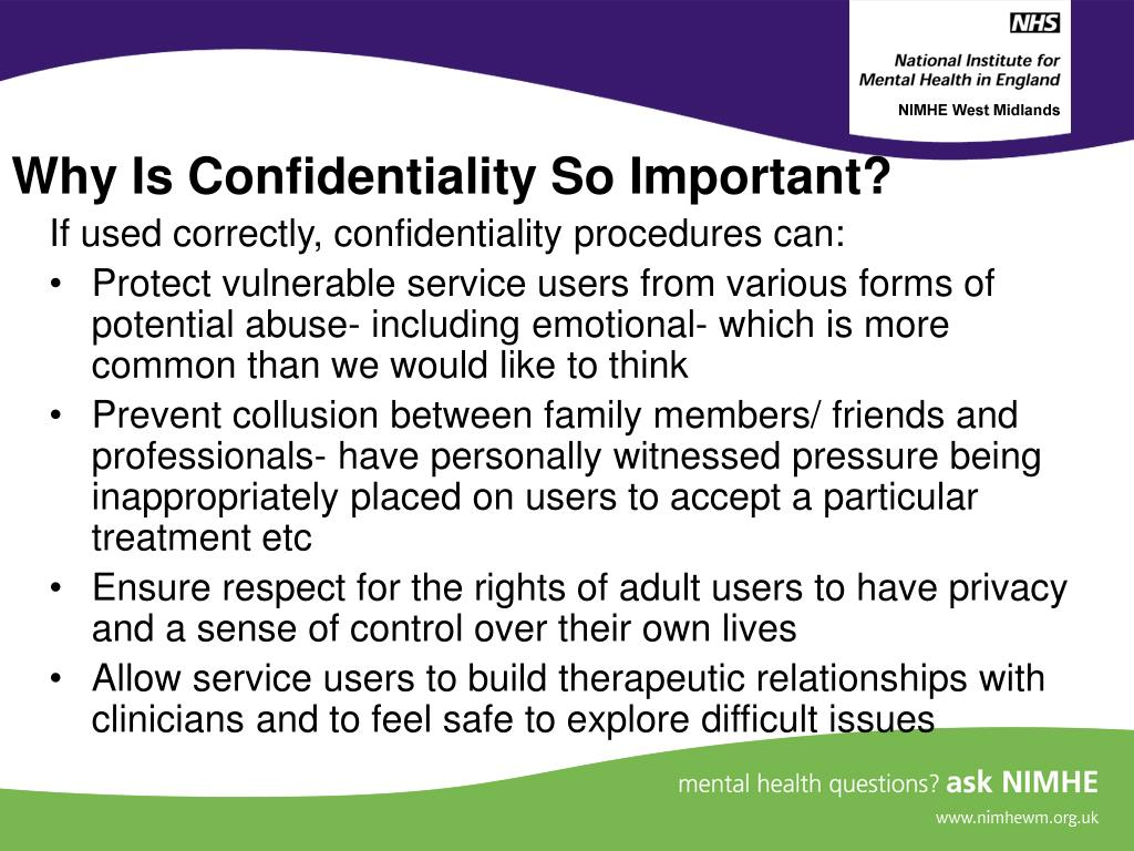 Why Is Confidentiality So Important?