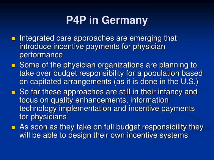 P4P in Germany