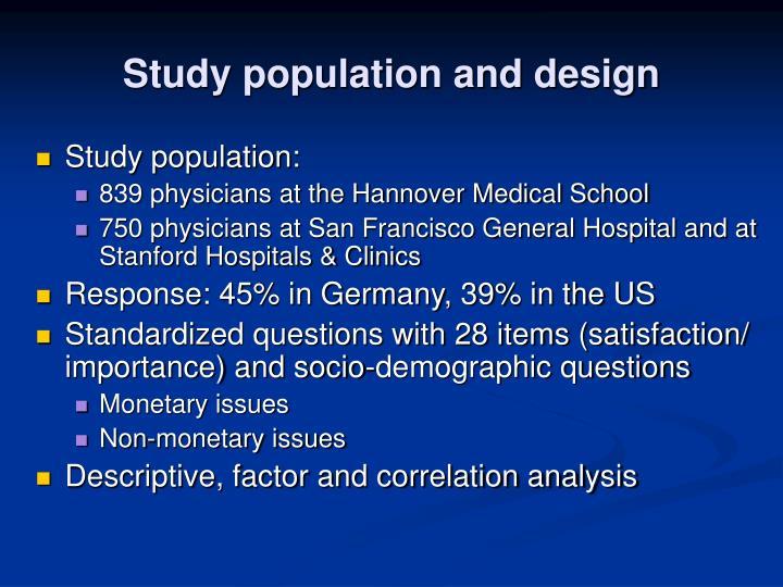 Study population and design