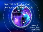 internet and education authoring multimedia
