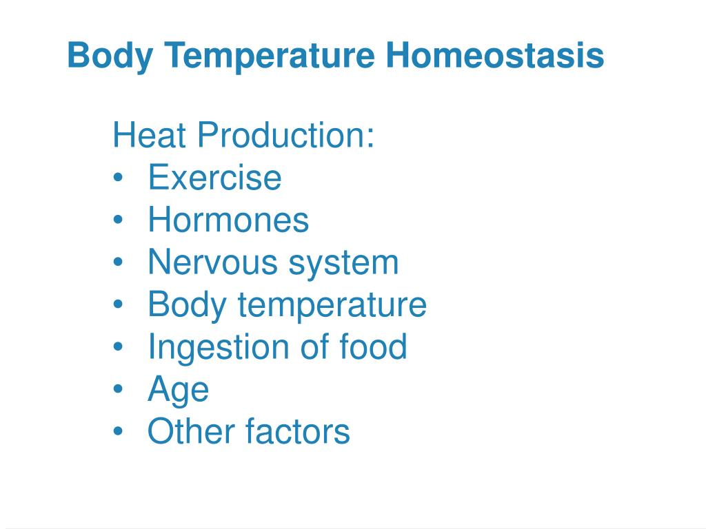 Body Temperature Homeostasis