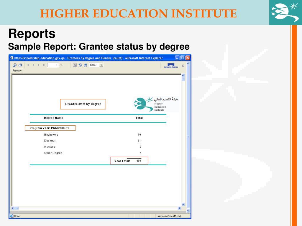 HIGHER EDUCATION INSTITUTE