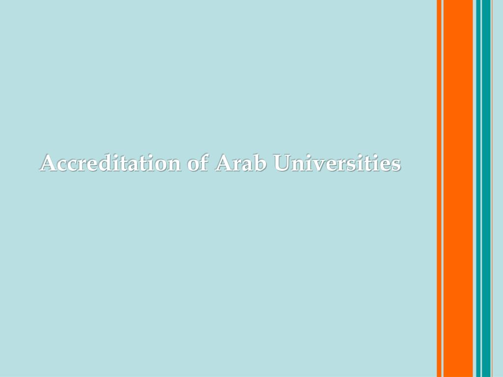 Accreditation of Arab Universities