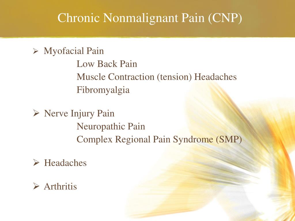 Chronic Nonmalignant Pain (CNP)