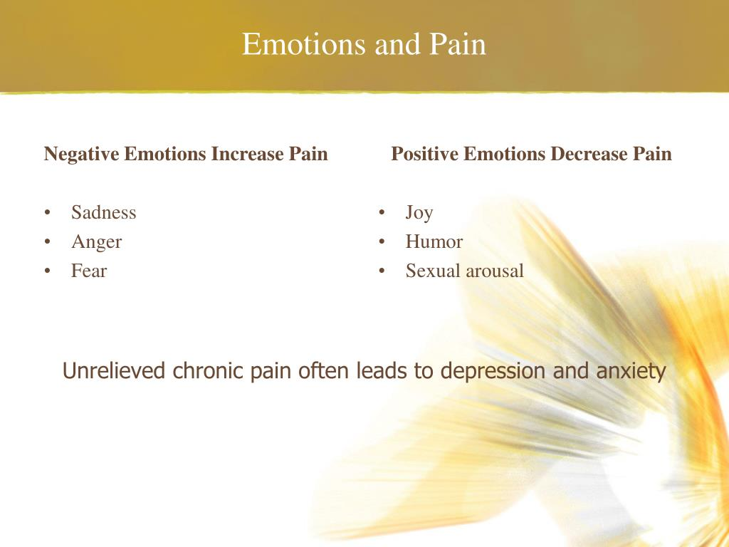 Emotions and Pain