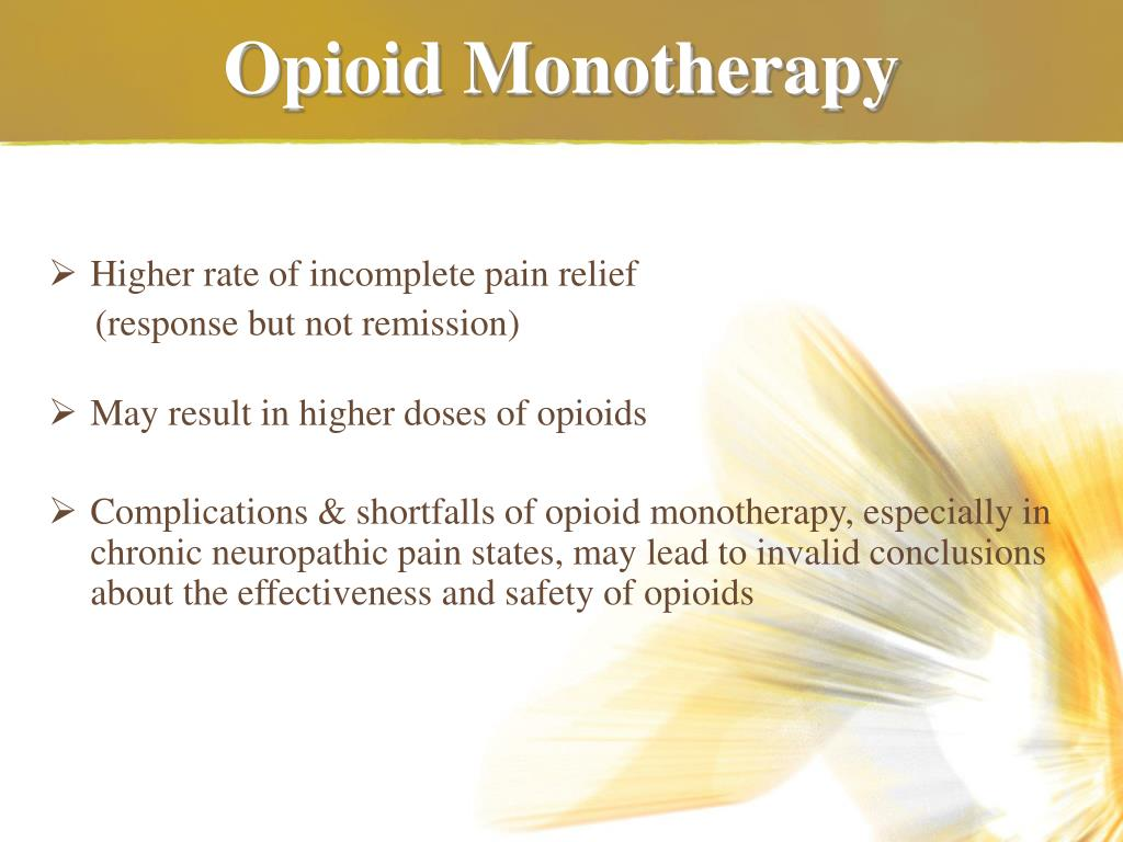 Opioid Monotherapy