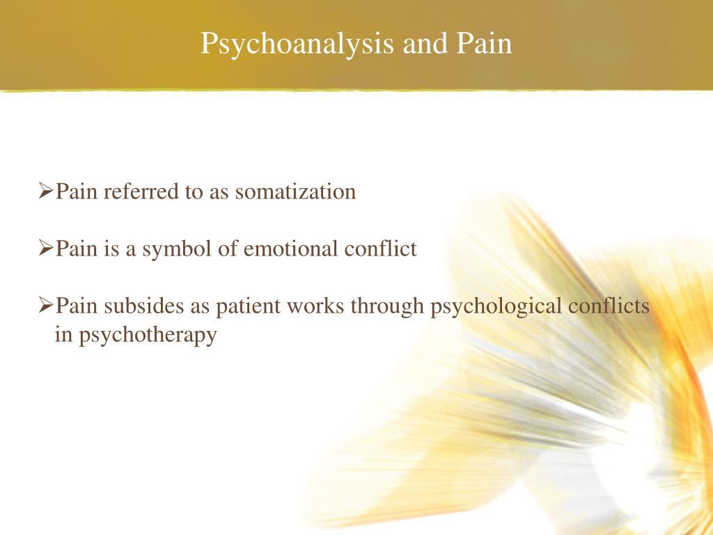 Psychoanalysis and Pain