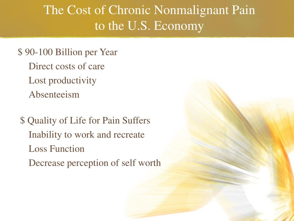 The Cost of Chronic Nonmalignant Pain