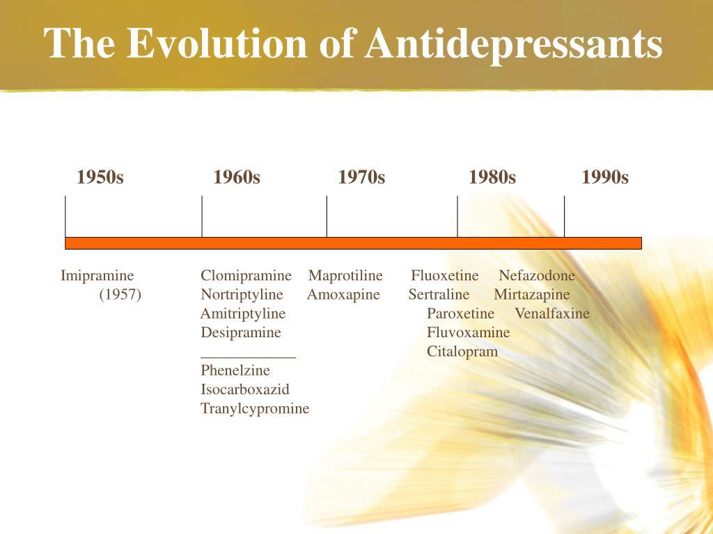 The Evolution of Antidepressants