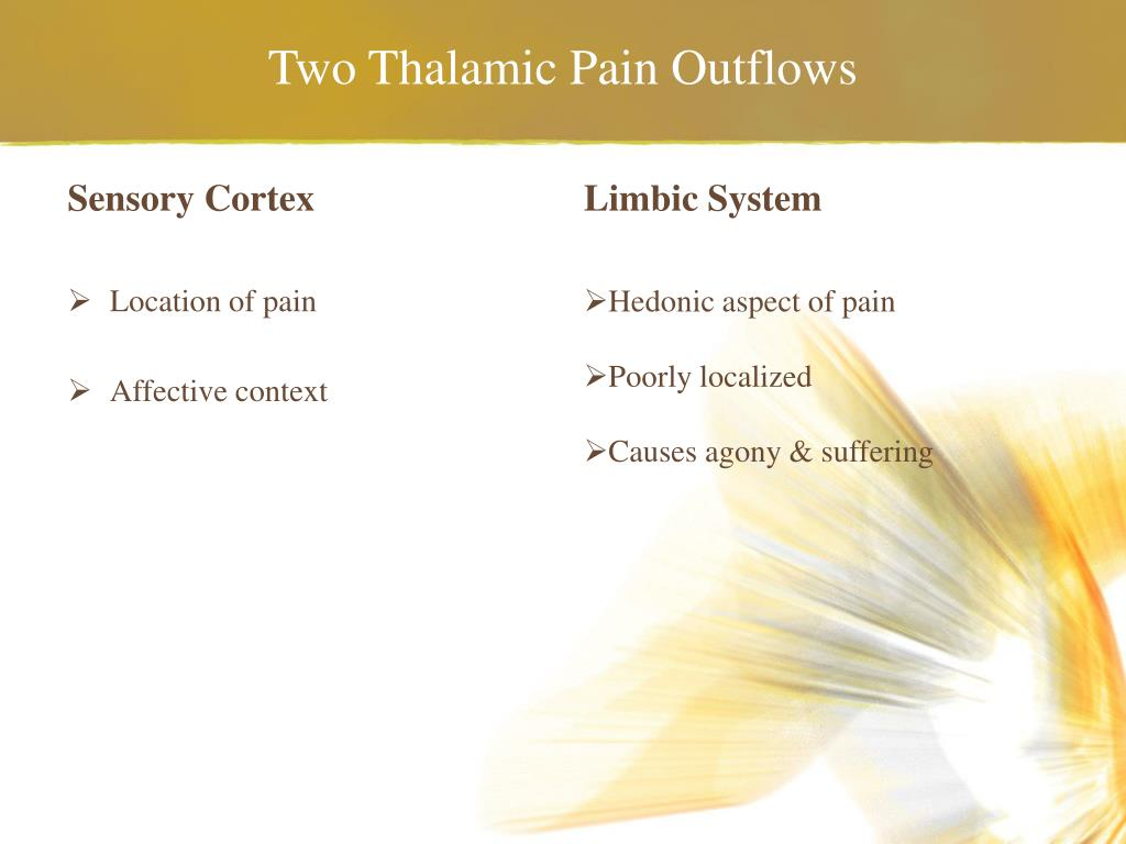 Two Thalamic Pain Outflows