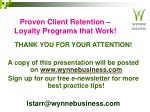 proven client retention loyalty programs that work33